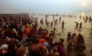 Hindus Gather At Sacred Rivers For Kumbh Mela Festival