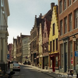 Bruges street & row houses
