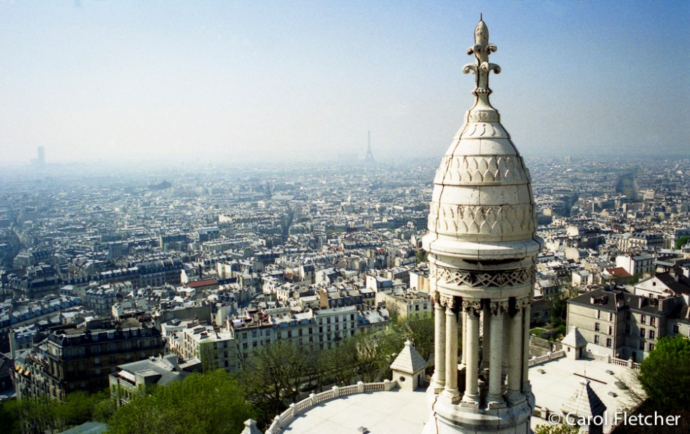 Paris from the dome of Sacre Coeur