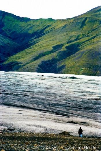 At the Skaftafellsjokull Glacier
