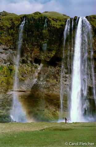 The Seljalandfoss waterfall