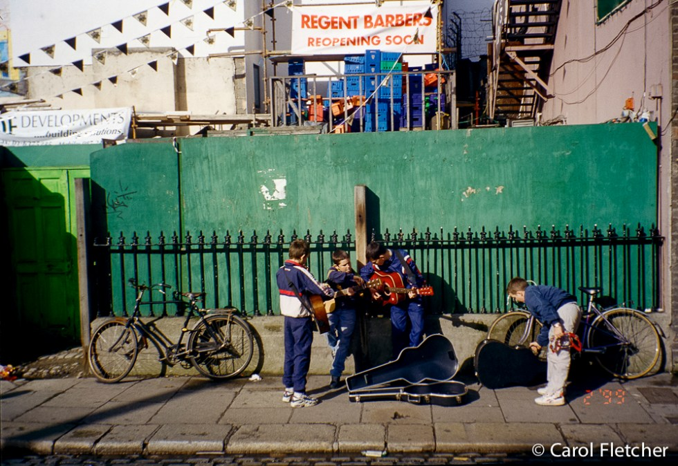 Kids busking in Dublin