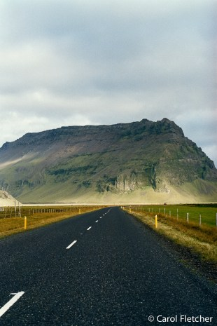 Roads in Iceland - Red road stopped by fairy-folk land