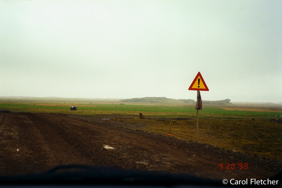 Roads in Iceland - ! - uh-oh