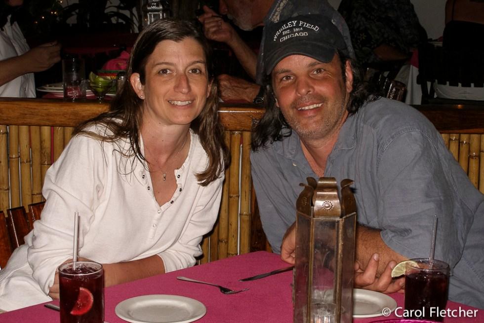 Bryan and Carol at dinner in Zihuatanejo
