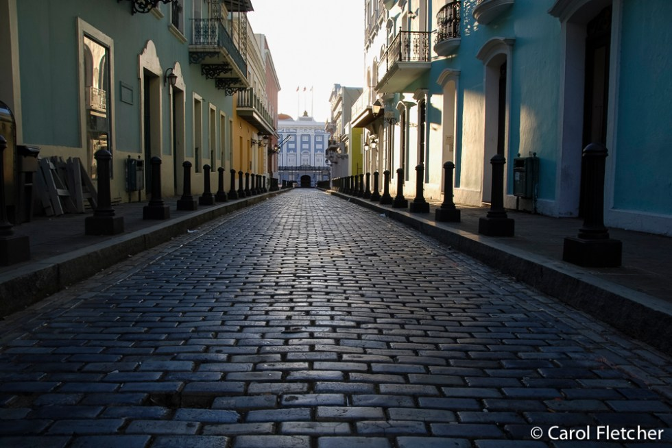 Blue Black brick roads