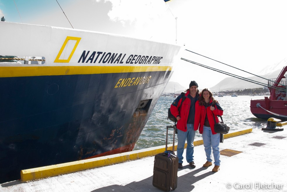 Carol and Bryan with the National Geographic Endeavor