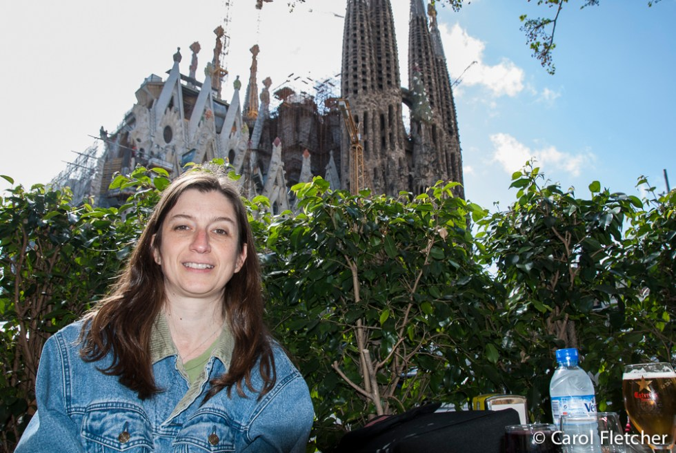 Carol at Sagrada Familia