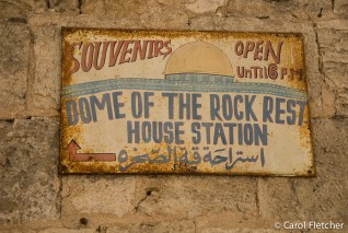 Dome of the Rock old sign