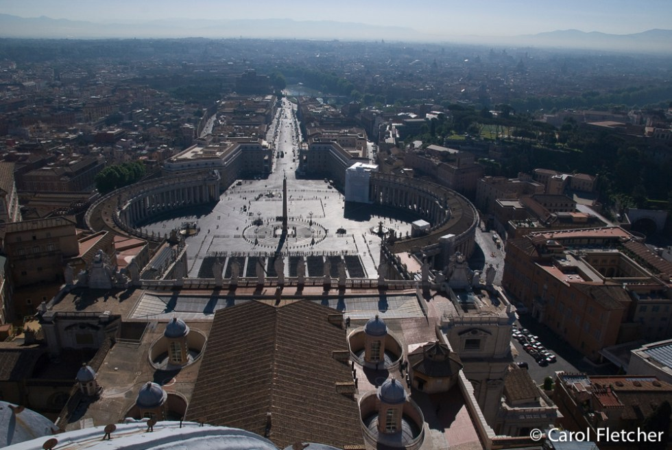 View of Vatican City from the top of the Dome