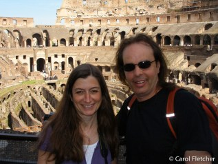 Carol and Bryan at the Colosseum