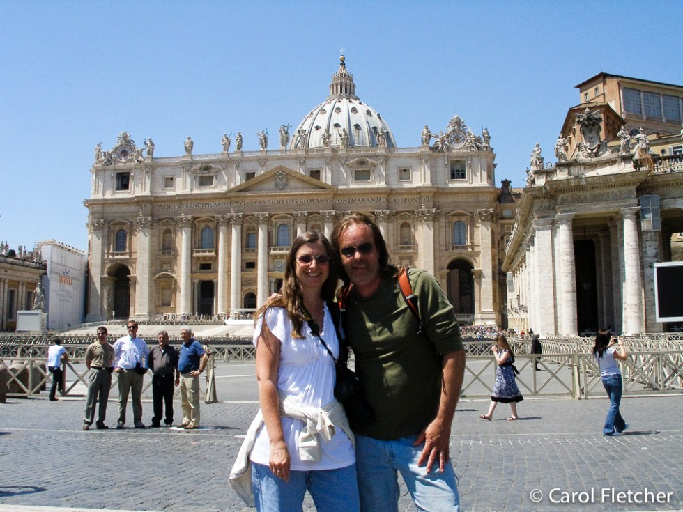 Carol and Bryan at the Vatican