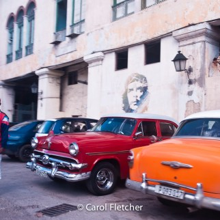 che parking attendant lot cars cuba