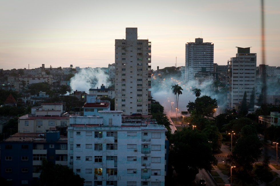 Fumigation on Calle 23 Havana
