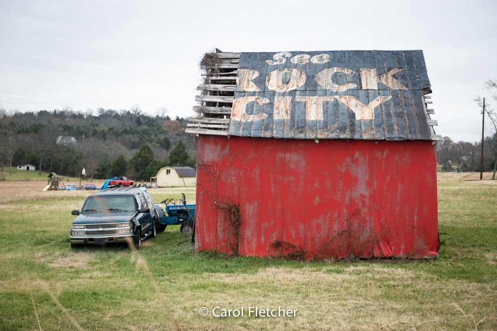 See Rock City, barn, rural Tennessee