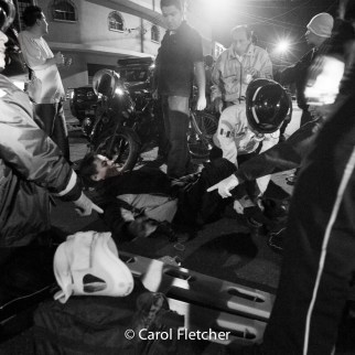 motorcycle accident guatemala city bomberos pointing