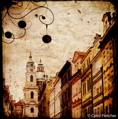 czech republic prague curlicues mixedmedia