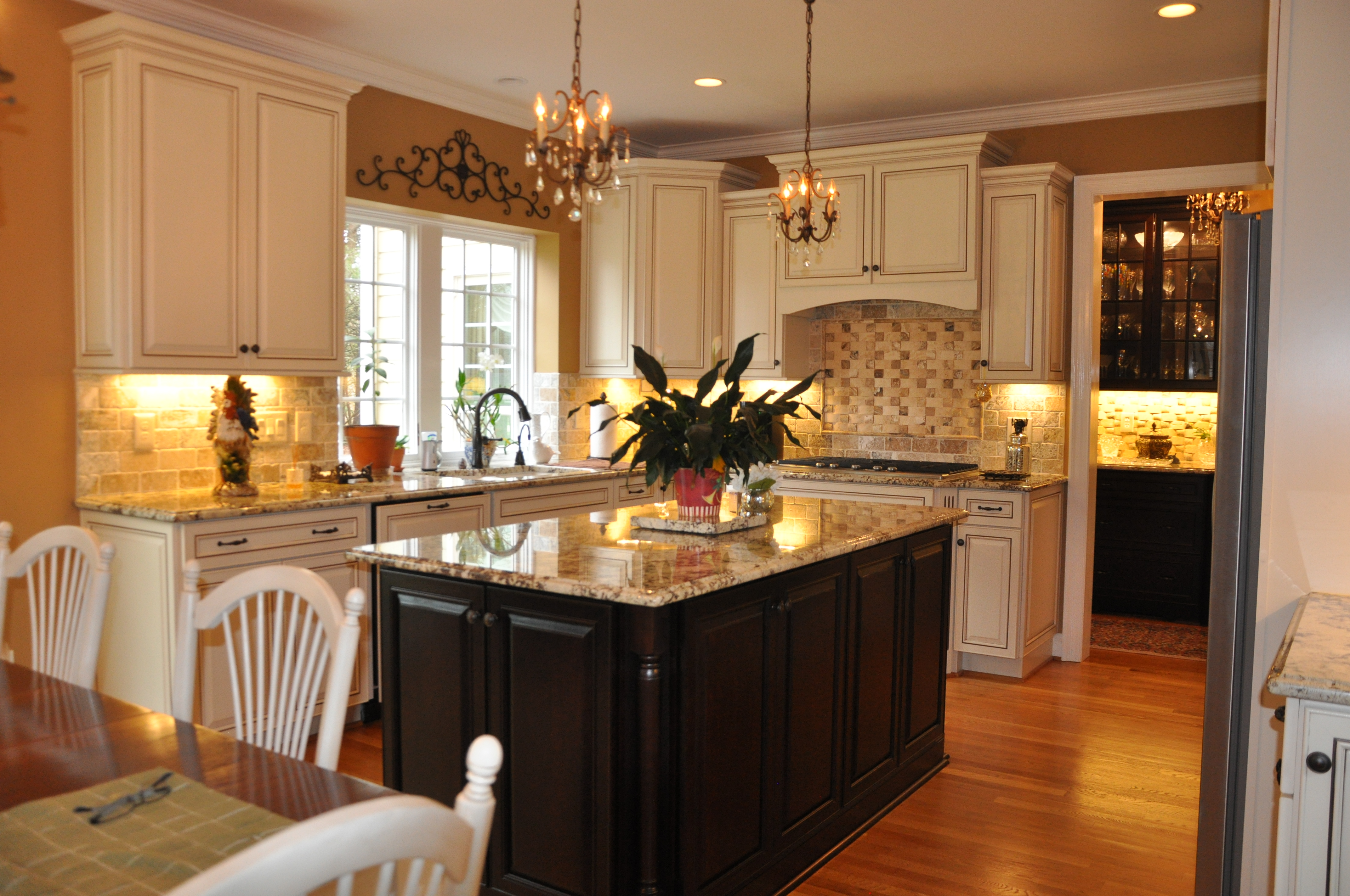 Kitchen Island With Different Countertop Coordinating Granite Or Quartz Countertops With Cabinets