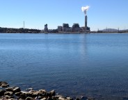 Duke Energy-Progress has proposed replacing its coal-fired power plant on Asheville's Lake Julian, seen here, with a complex of natural-gas plants. Frank Taylor / Carolina Public Press
