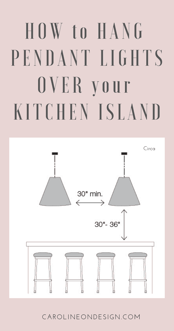 Over Island Lighting In Kitchen How To Hang Pendant Lighting Over Kitchen Island Caroline On Design