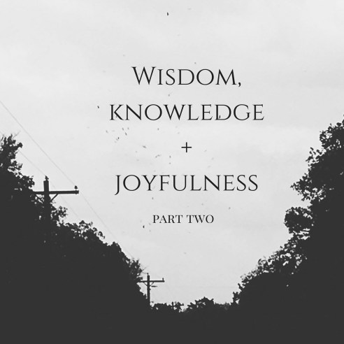 Wisdom, Knowledge + Joyfulness (part two) carolinerosekraft.com