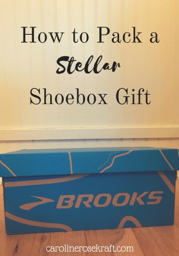 how to pack a stellar shoebox gift
