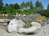 Natural Rock Garden Seating | CAROLYN'S SHADE GARDENS
