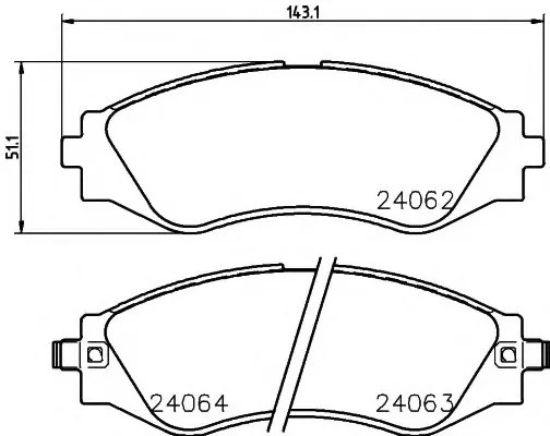 brake pads - CHEVROLET EPICA (KL1_/V250) - Parts