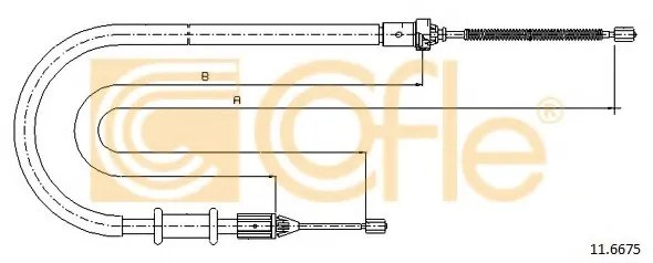 Cable, parking brake - NISSAN KUBISTAR (X76) - Parts
