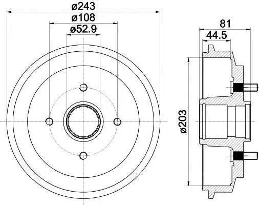 brake drum - MAZDA 2 (DY) - Parts
