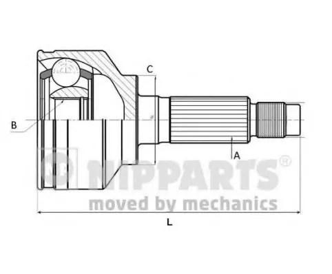CV-joint - MAZDA 2 (DY) - Parts