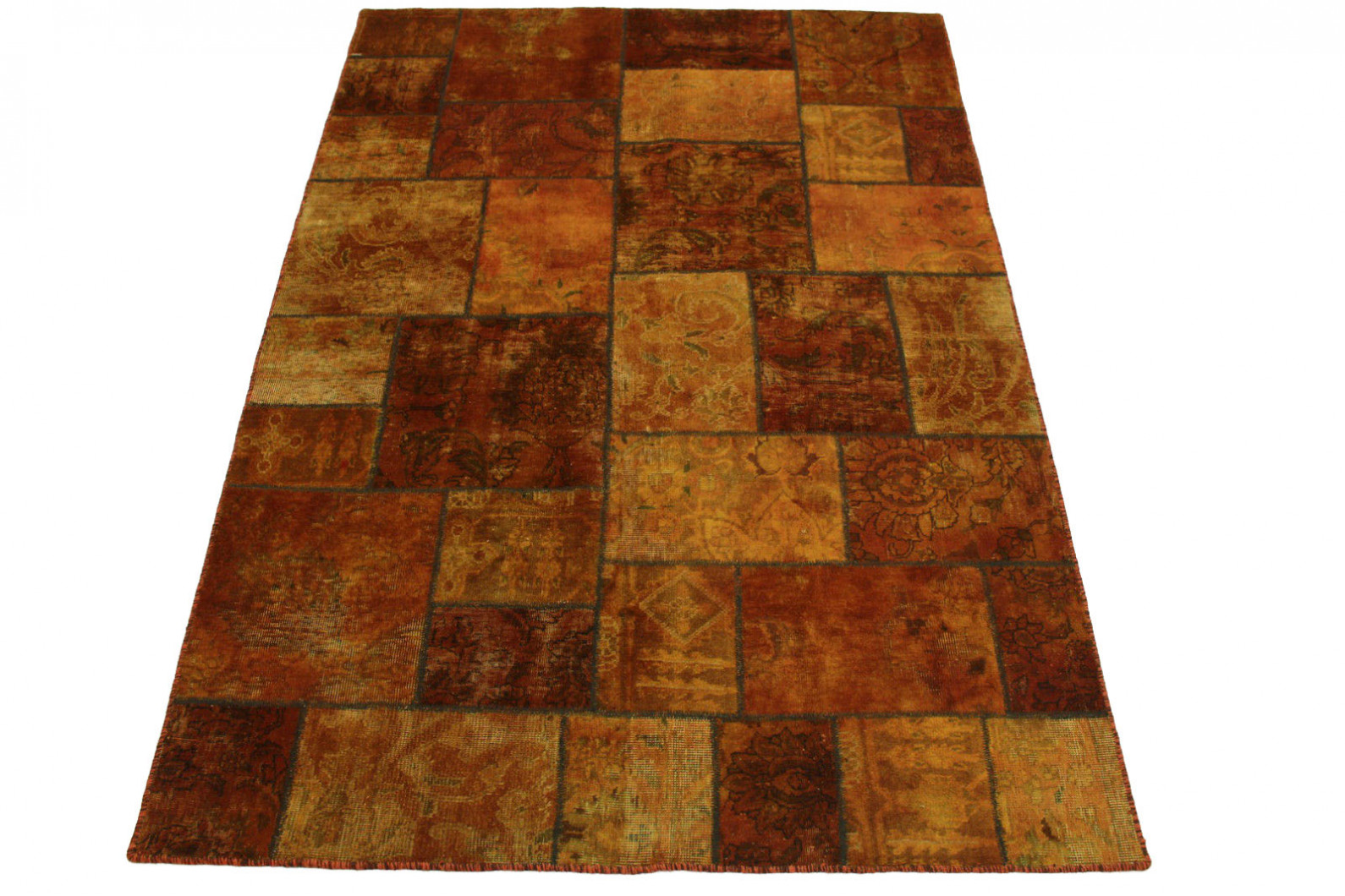 Teppich Orange Patchwork Teppich Orange Braun In 240x170cm 1001 2092