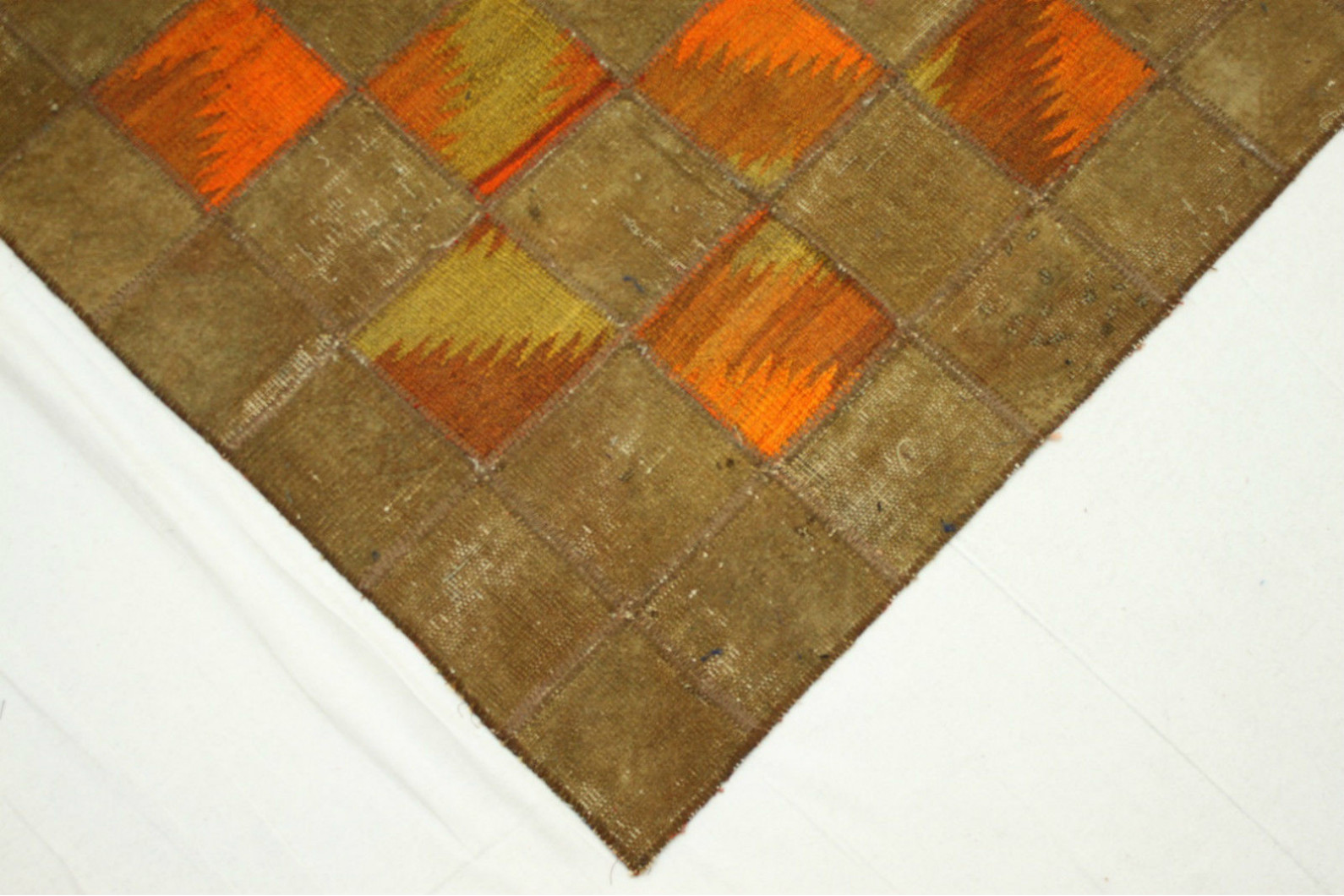 Teppich Orange Patchwork Teppich Orange Braun In 300x200cm 1001 2359