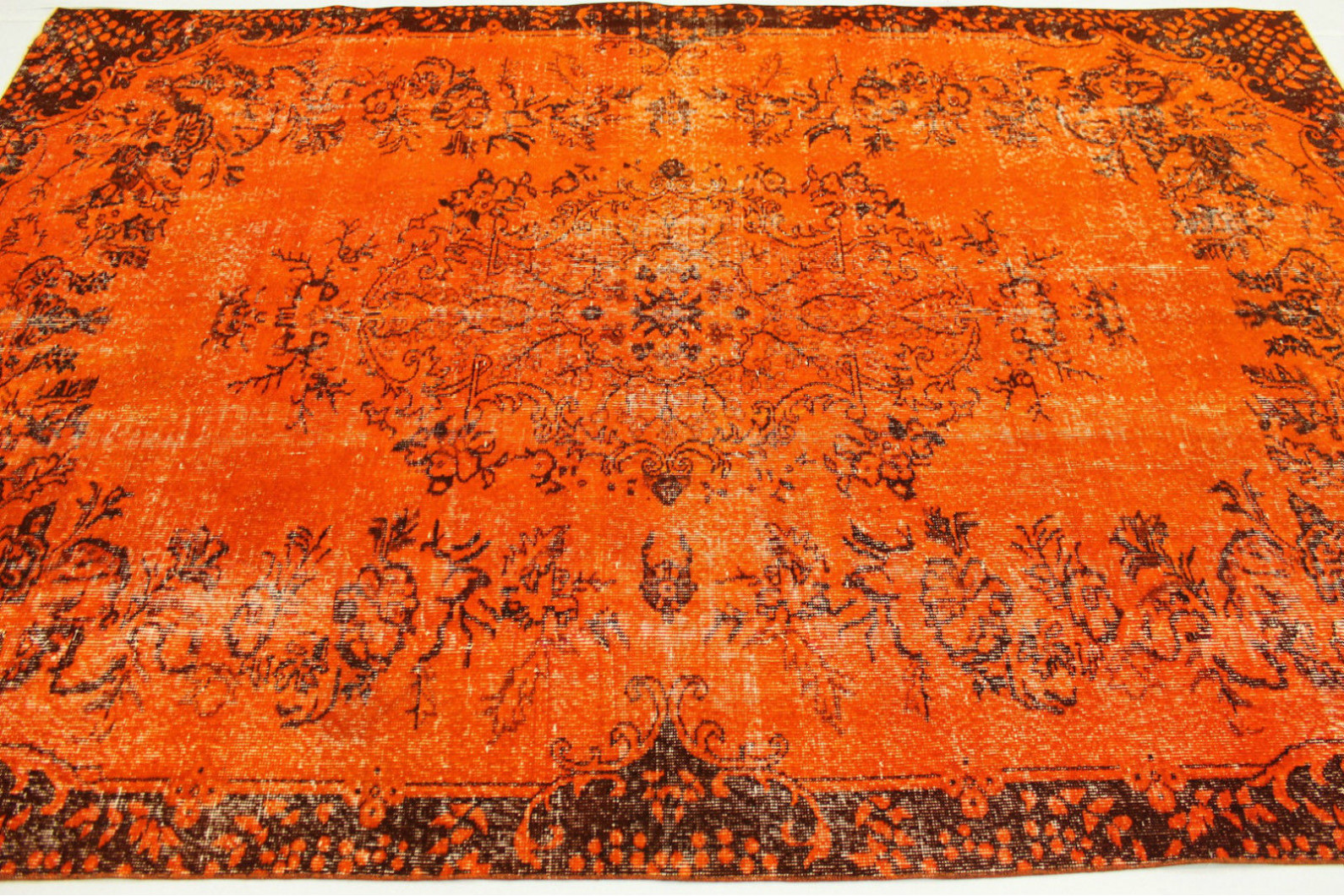 Teppichboden Orange Vintage Teppich Orange In 290x190cm