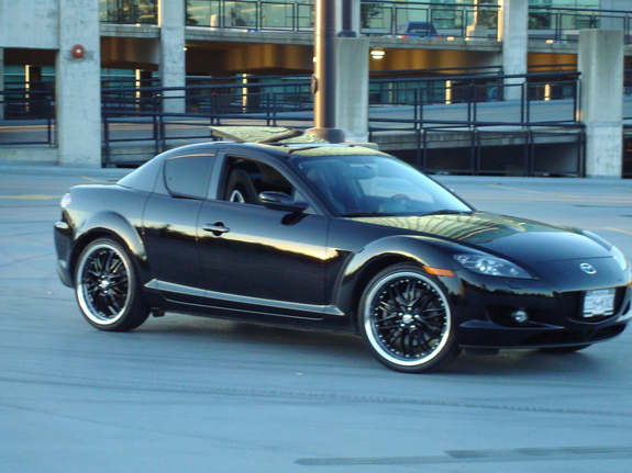 Stanced Car Iphone Wallpaper Mazda Rx8 Black 2004