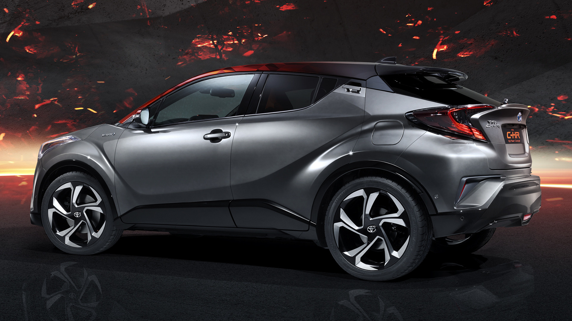 Car Jeep 2017 Toyota C-hr Hy-power Concept - Wallpapers And Hd