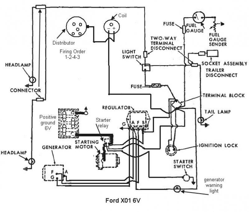 ford tractor 12v wiring diagram