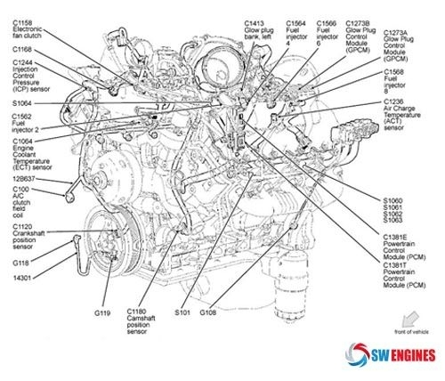 1992 ford f 150 Motor diagram
