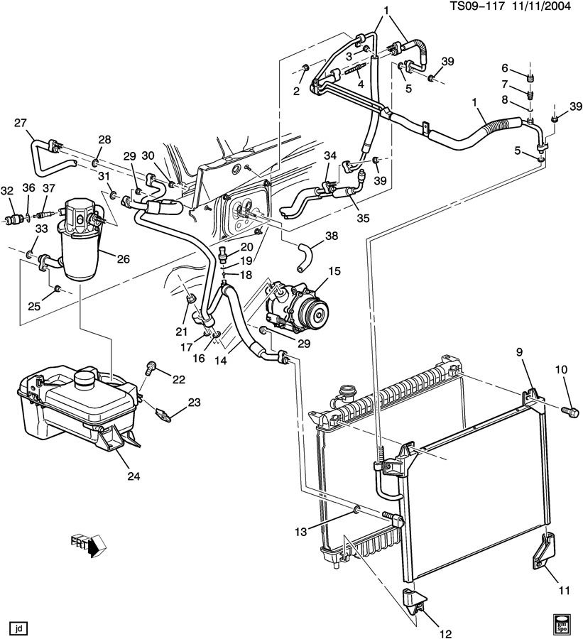 2004 gmc envoy engine diagram