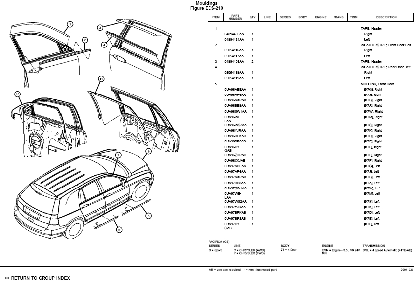 2004 chrysler pacifica headlight wiring diagram