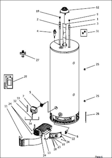 hydrojet hot water heater wiring diagram