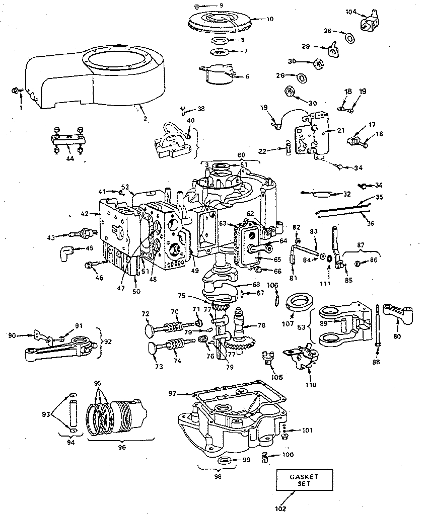 briggs engine parts diagram