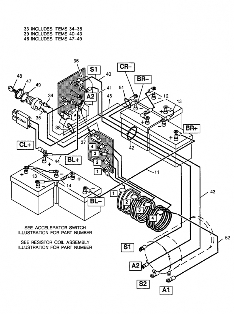 2000 gas golf cart wiring diagram with lights