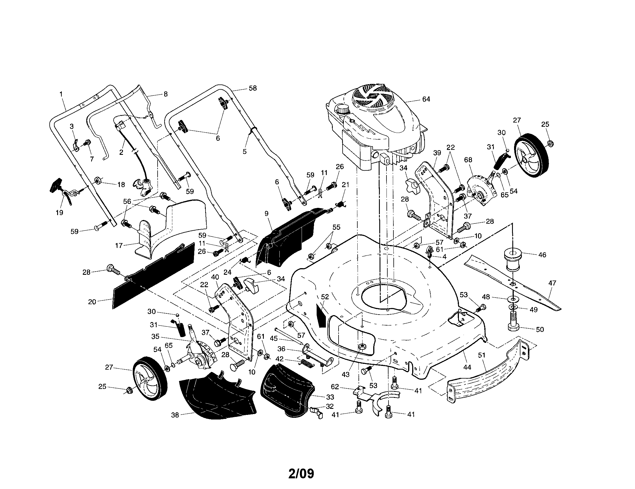 mower engine parts diagram