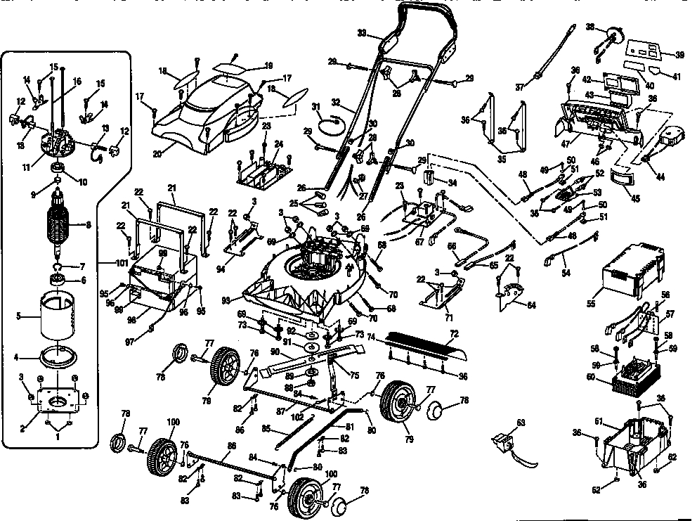 schematic diagram and parts list for craftsman ridingmowertractor