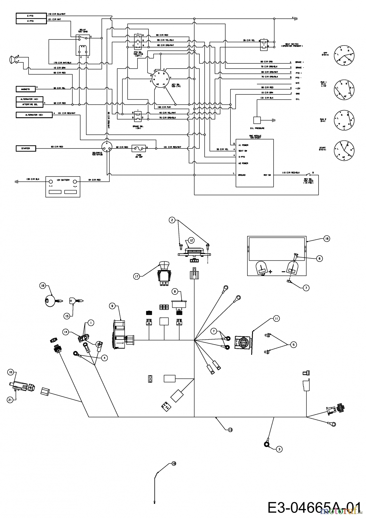 wiring diagram for cub cadet 17wf2ack010