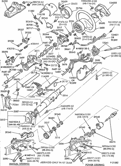 1994 Ford Ranger Steering Column Diagram