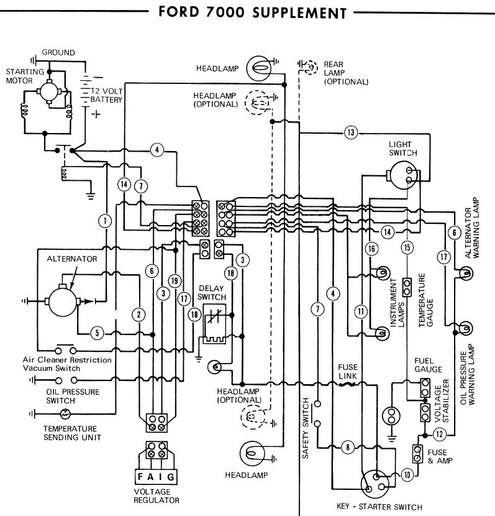 1965 ford 4000 wiring diagram