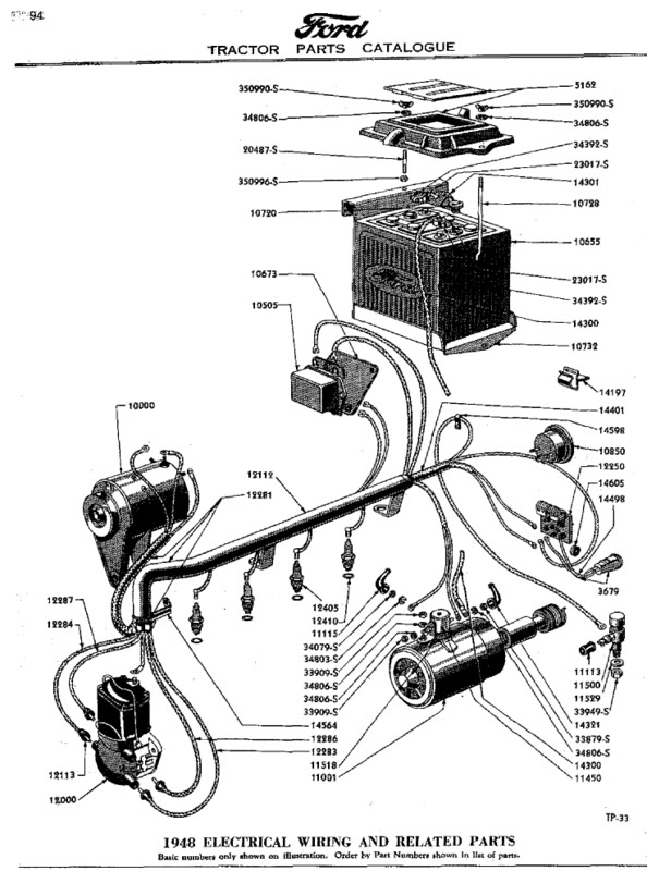 601 ford tractor alternator wiring diagram