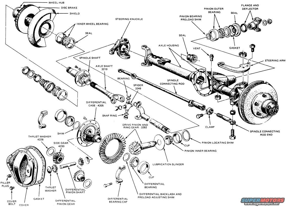 ford f250 super duty front axle parts diagram